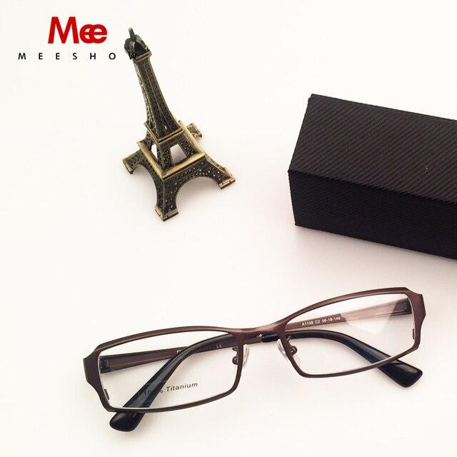 2016 Высокое Качество полный обод оптический Очки 100% pure Titanium men optical frame Beta Titanium Очки с case