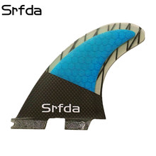 SURFBOARD FINS THRUSTER SET 3 BLUE FCS G-5 TRI NYT SURF FIN SKEG 25set / lot