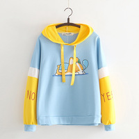 Autumn New Cartoon Animal Dog Hooded Long sleeved Sweatshirts Harajuku Corgi Female Hoody Kawaii Women Pullovers Tops