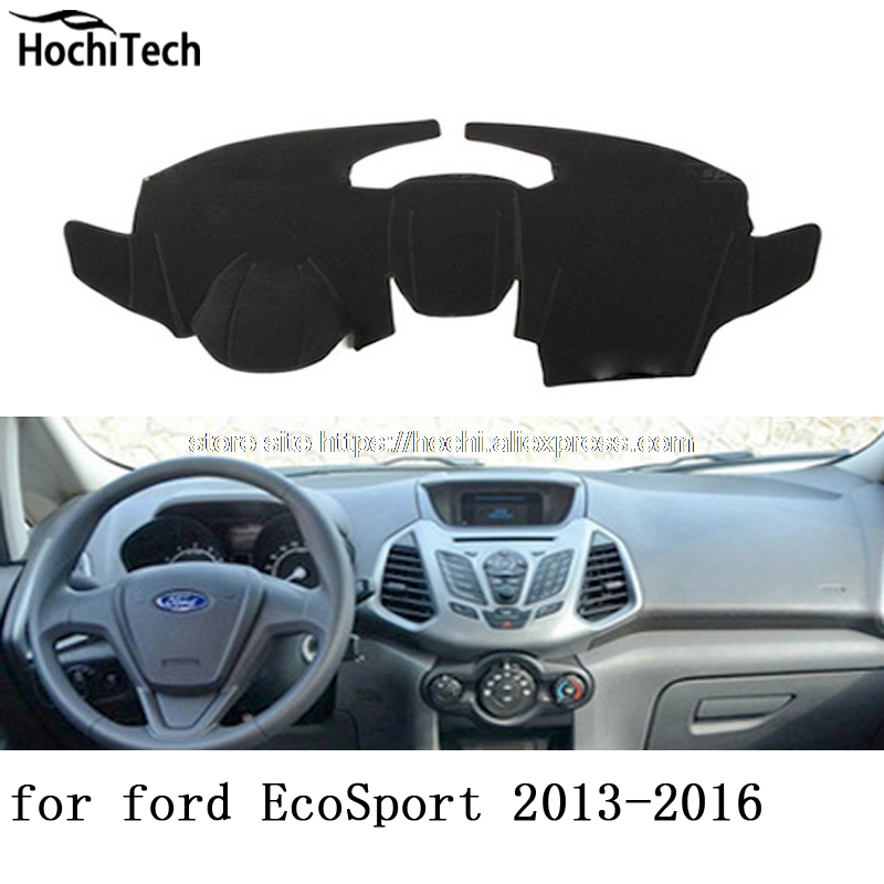 for ford ecosport 2013 2014 2015 2016 dashboard mat Protective pad Shade Cushion Photophobism Pad car styling accessories car rear trunk security shield cargo cover for ford ecosport 2013 2014 2015 2016 2017 high qualit black beige auto accessories