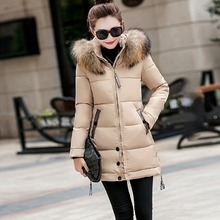 Jacket Coat Winter 2019 New Plus Size Parka Long Hooded Outerwear With Fur Colla