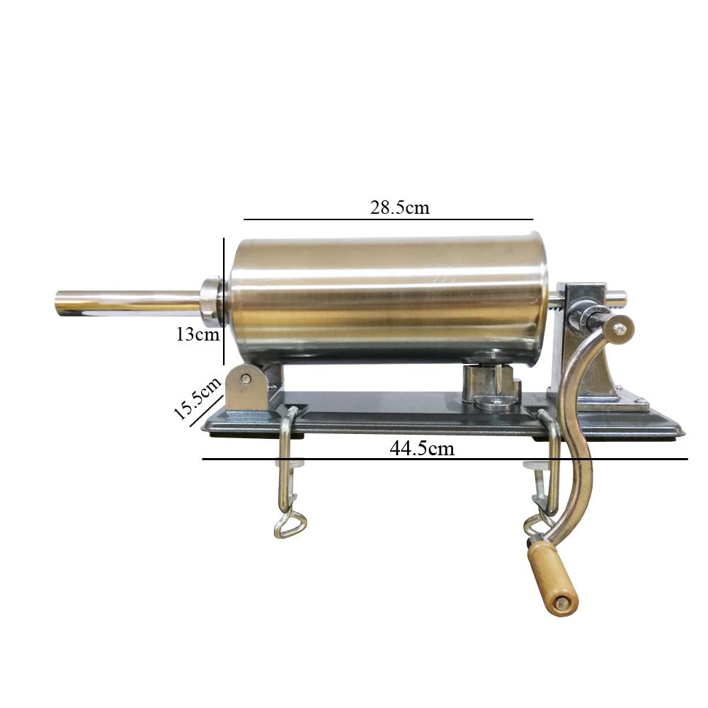 8 lbs/4 kg Máquina Manual de embutidor de salchichas de acero inoxidable Horizontal que hace relleno Vertical de salchichas-in Rellenos from Hogar y Mascotas    2