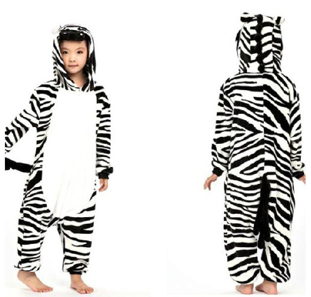 e5e105f55fb7 Kids Animal 85 125cm Zebra Onesie boys girls Children Pyjamas ...