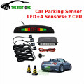 8 Colors Car LED Parking Sensor Kit Display 4 Sensors For All Cars Reverse Assistance Backup Radar Monitor System Free Shipping