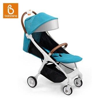 9231dd525 Babysing cochecito para recién nacidos bebé ligero plegable todas las  estaciones de lujo de viaje de los niños cochecito luz cochecitos paseo E-GO