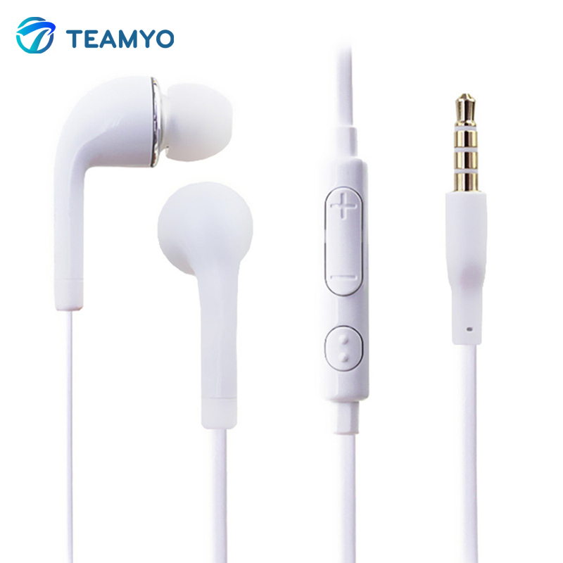 Teamyo Portable In-ear Earphone Stereo Music Handsfree Headset With Mic volume control For Samsung GALAXY S2 S3 S4 Note3 N7100 rock y10 stereo headphone earphone microphone stereo bass wired headset for music computer game with mic
