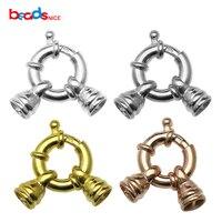 Beadsnice 925 sterling silver spring anillos cierres 18mm abierta cierre de mosquetón para la joyería ID8223