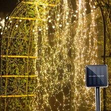 BEIAIDI 200 LED 태양 광 발전 포도 나무 구리 LED 문자열 요정 빛 태양 물을 수 있습니다 반딧불 식물 나뭇 가지 요정 빛