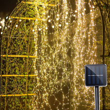BEIAIDI 200 LED Solar Powered Vine Copper LED String Fairy Light Solar Watering Can Light Firefly Plants Tree Branch Fairy Light