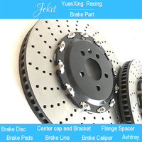 Jekit Big Brake rotors 380*34mm with Floating center hats for camry 2018/volvo v70/volvo s60/peugeot 2008/toyota c hr