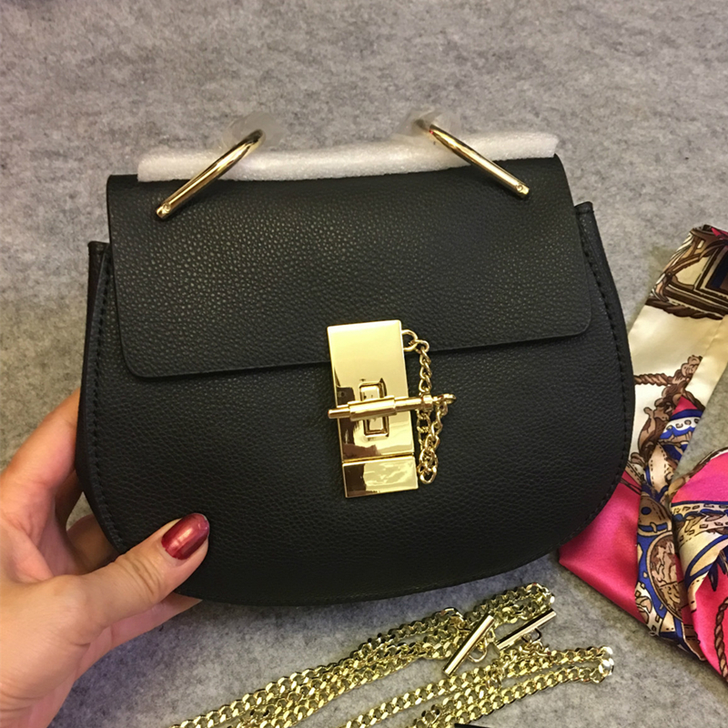 Fashion Famous Brand Design Women Luxury Genuine Leather Messenger Bag Cowskin Shoulder Bag Chain Tote Sac a Main