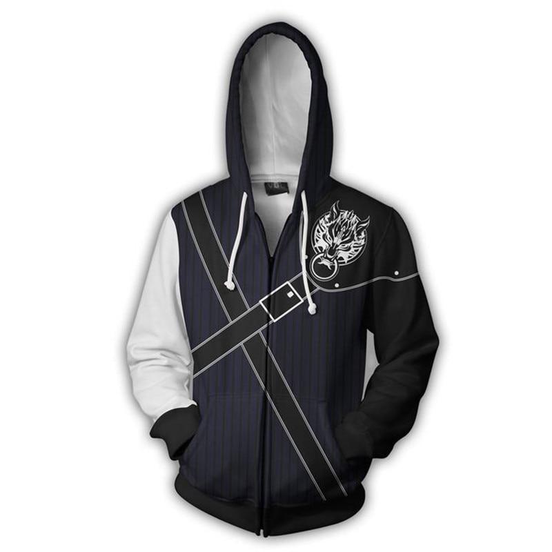 Gintama Sakata Gintoki Anime 3D Print Sweatshirt Cosplay Hoodie Casual Zipper