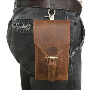 Кожух Из Натуральной Кожи, Чехол для мобильного телефона, карман на бедрах, поясная сумка, подарок папе для Samsung Galaxy A6 A6 Plus Oukitel K7