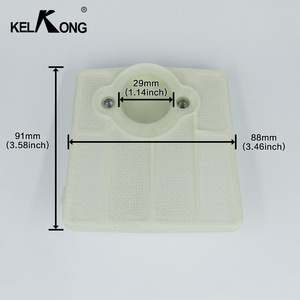 Image 4 - KELKONG 2Pcs Air Filters For Husqvarna 61 66 181 266 281 288 Carburetor Chainsaw Motorcycle Parts Replace # 501 80 71 05
