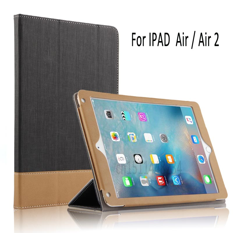 For Apple iPad Air 2 ipad 6 Smart Tablet Case Cover Stand Business Tablet Designer PU Leather Cover For Apple ipad Air 5 Case for apple ipad air 2 pu leather case luxury silk pattern stand smart cover