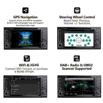 DSP Chip IPS Android 10 4G 64G CAR GPS For VW Volkswagen Touareg T5 Transporter Multivan dvd player radio multimedia navigation