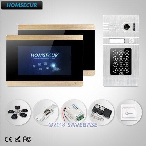 HOMSECUR 7 Wired Video&Audio Smart Doorbell Door Intercom with Password Access for Apartment