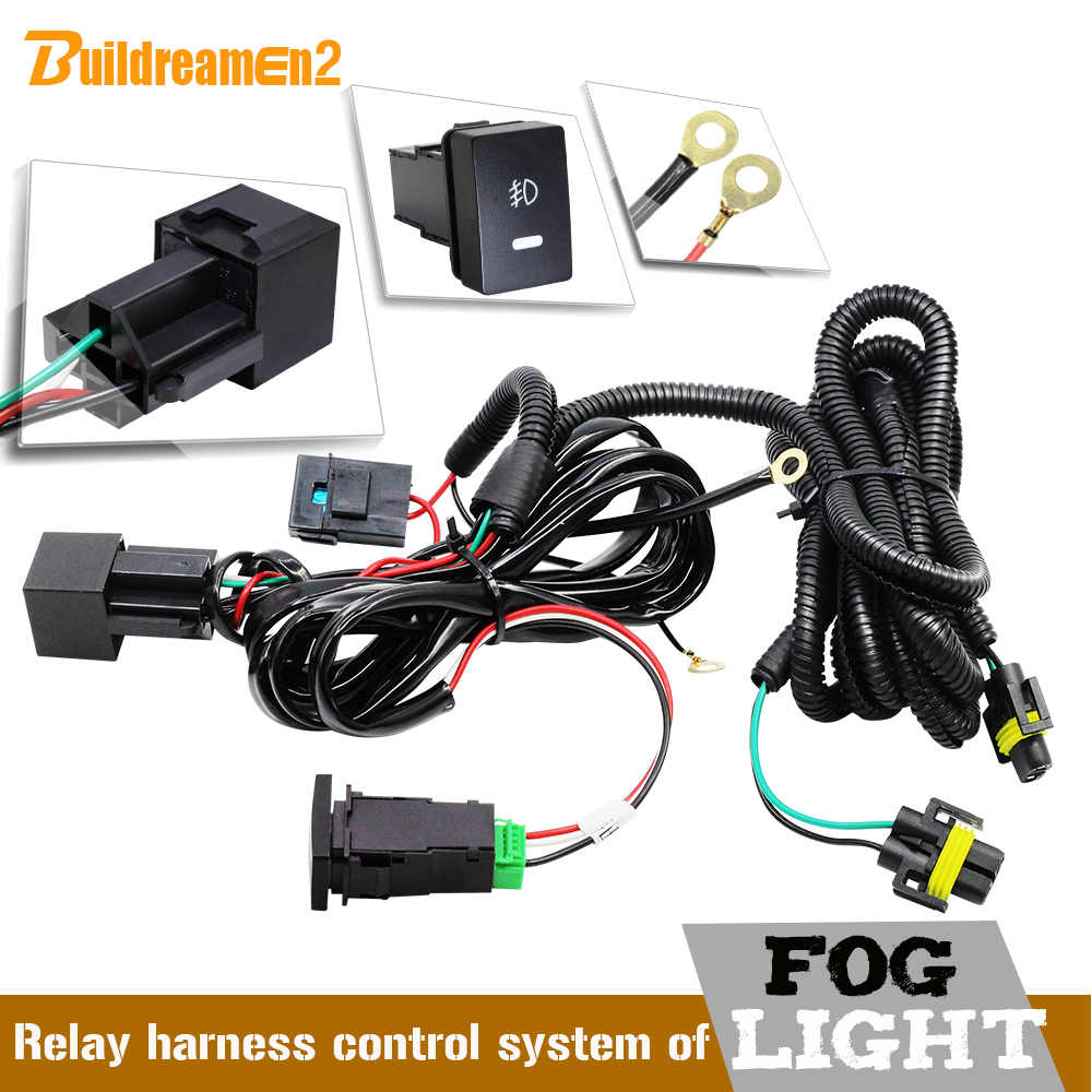 small resolution of buildreamen2 car fog light h11 wiring harness fuse relay cable switch kit for porsche opel subaru