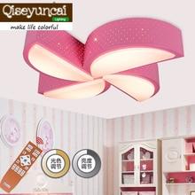 Qiseyuncai современный мультфильм мельница детская комната привело дистанционный пульт Потолочные светильники мужской девушка спальня теплое освещение