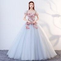 Beaded Sexy Girl Ball Gown Short Sleeve Debutante Dresses Vestidos De 15 Anos Luxury Applique Flower Princess Gowns Abendkleider