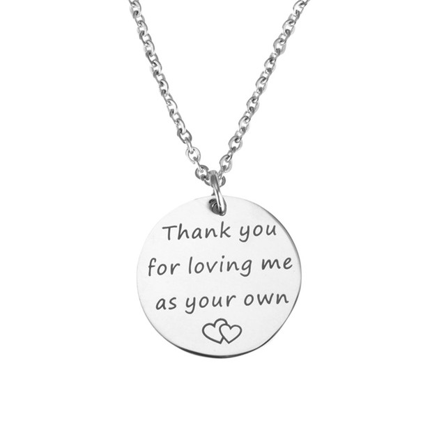 letter necklace Thank you for loving me as your necklace silver