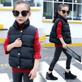 2016 New Pattern Down Cotton-padded Girls Boys Vest Waistcoat Daughter Loaded Vest Children's Winter Spring Jackets Thick Coats
