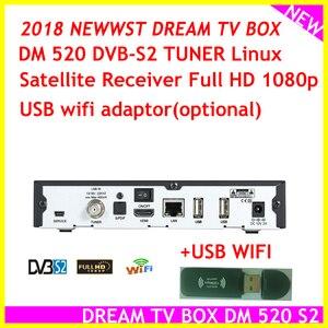 Image 2 - ล่าสุดชุดTop Boxรุ่นDream Tv Box DM 520 Dvb S2จูนเนอร์Linux Satellite Full HD 1080P