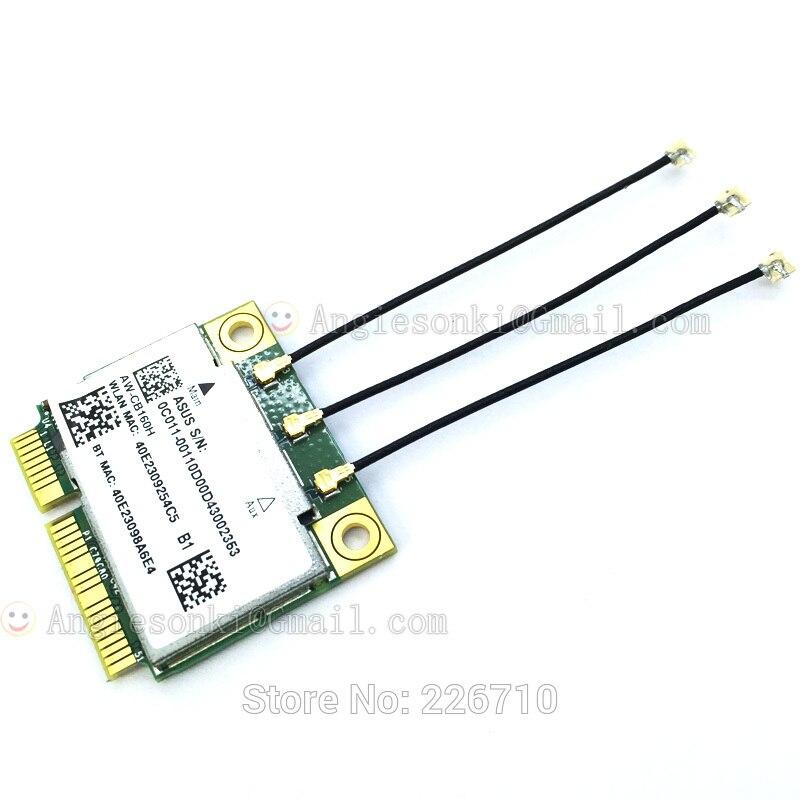 1300 Mbps Mini PCI-E Carte Pour Hauteur Azurewave AW-CB160H 802.11 abgn/11ac WiFi + BT Bluetooth 4.0 Broadcom BCM94360HMB + 3X IPEX-4 antennes