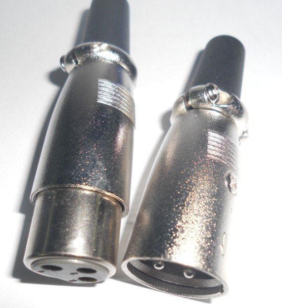 XRL DMX connector, male and female