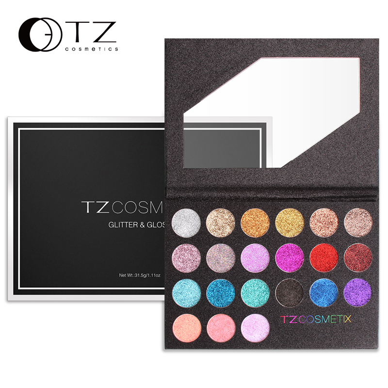 Glitter Eyeshadow Palette Glitter Lip Gloss Eyeshadow Diamond Powder Professinal Makeup  Glitter Eye Shadow Make up 21 Colors TZ eyeshadow big palette pro 148 color make up palette full color contour big palette blush lip gloss make up eyeshadow