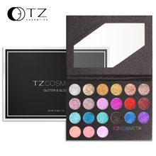 Glitter Eyeshadow Palette Glitter Lip Gloss Eyeshadow Diamond Powder Professinal Makeup  Glitter Eye Shadow Make up 21 Colors TZ