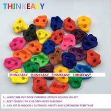 20 to 29 PCS / SET Large Size Plastic children Rock Climbing Wall Rock Stones Kids Toys Sports tool outdoor game With scre thinkeasy 32 pcs plastic children indoor rock climbing stones screw toy wall kit kids toys sports hold outdoor game playground