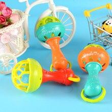 Купить с кэшбэком 1pcs Plastic musical Hand Bells Rattles Flower Sunflower Baby toys newborn teether Girls Toys Soft for Children Mobiles
