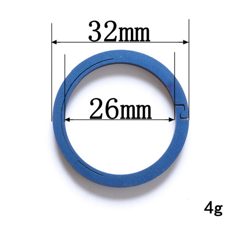 Outdoor EDC Key Chain Titanium Alloy Portable Keyring Buckle Key Ring Circle Octangle Camping Travel Tool