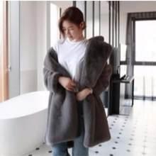 07fb719e4b67e Clobee 2018 Winter Women s Faux Fur Coat Artificial Fur Overcoat Furry  Jacket Femme Plus Size Warm Fake Fur Outwear Z287