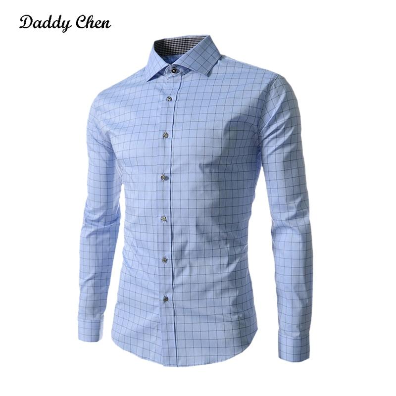 Klänningskjorta män slank passform stil man för pojkar Casual - Herrkläder