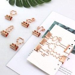 Пачка 12 шт./лот, сплошной цвет, золотые металлические зажимы, 25 мм, свежий стиль, с цветочным принтом, для заметок, букв, скрепки, канцелярские ...