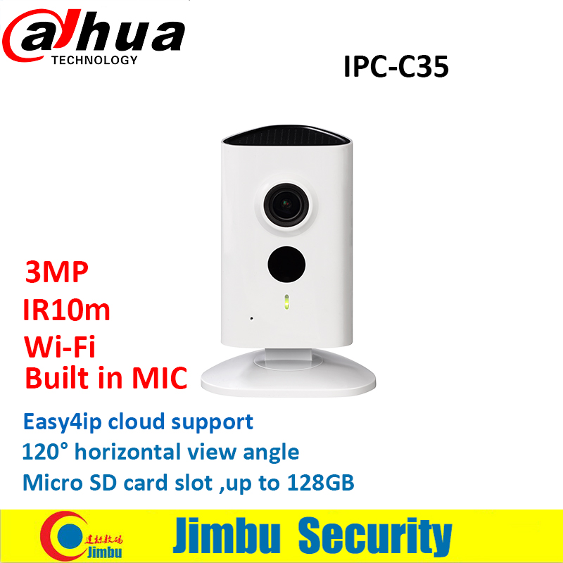 Dahua WiFi CCTV Camera 3MP IPC-C35 CCTV lens2.3mm IR10m built in MIC Easy4ip cloud Micro SD card up to 128GB without dahua logo