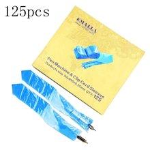125 шт/упак одноразовая синяя ручка машина татуировки зажим