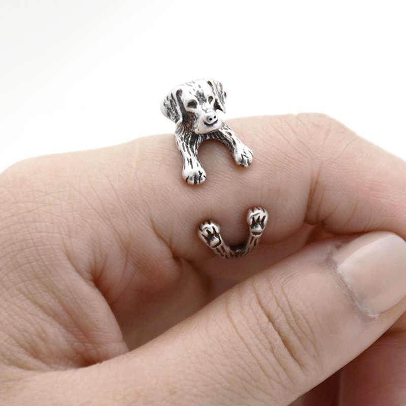 Anel do cão do animal de estimação dos homens do anel do filhote de cachorro do animal de estimação do dedo