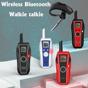 Image 2 - ミニトランシーバーハンドヘルド Bluetooth ヘッドセットワイヤレスイヤホン小型双方向ラジオワイヤレスヘッドフォン Buletooth イヤホン