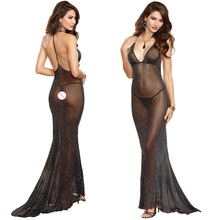 sexy lingerie hot long dress backless sexy perspective sexy underwear transparent erotic lingerie women lenceria sexy costumes