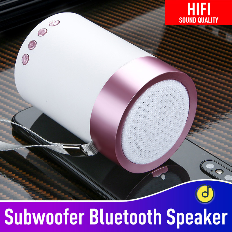 LED Mini Portable Super Bass Stereo Bluetooth Wireless Speaker For Smartphone RA