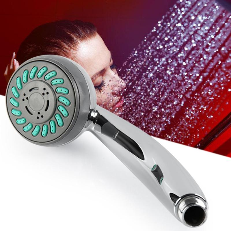 Home Improvement Colorful Led Shower Head 7-color Changing Shower Head No Battery Led Waterfall Shower Head Round Bathroom Accessories Showerhead Exquisite Traditional Embroidery Art