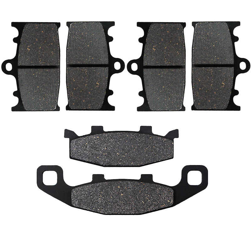 SYUU Motorcycle Replacement Front Rear Brake Pads Brakes for Kawasaki ZX 6R ZX6R ZX 600 98-01 ZX9R ZX 9R Ninja 96-01 ZX6R ZX636 2002 FA188F FA192R