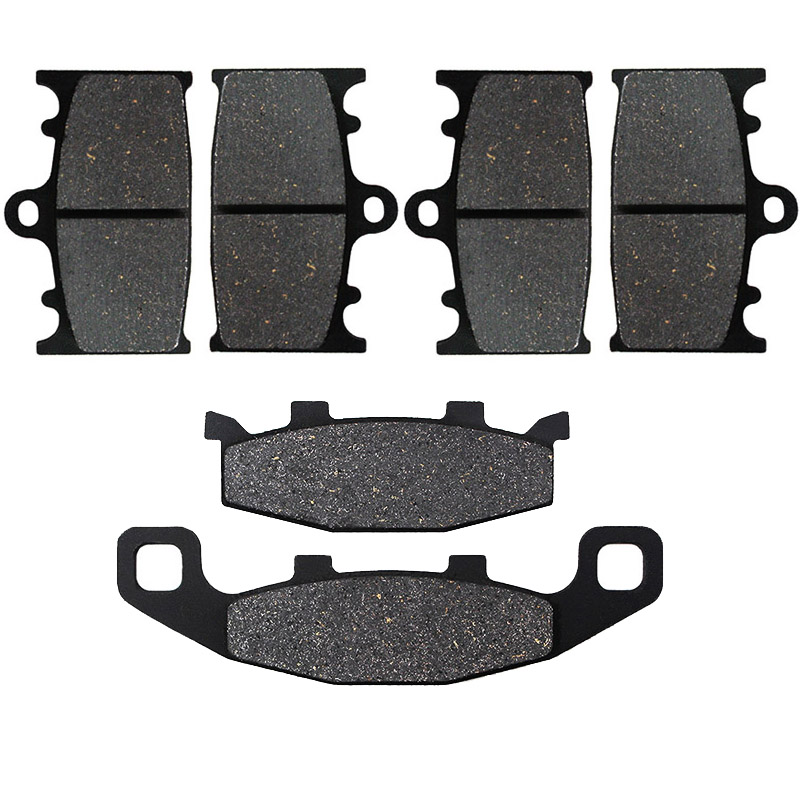 Motorcycle Front and Rear Brake Pads for Kawasaki ZZR400 ZZR 400 ZX400 1990 1992 ZX600 ZX 600 ZX6 1990 1991 1992 1993|Brake Disks| |  -