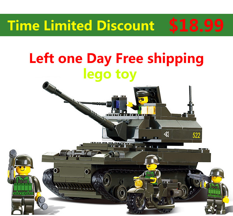 Building Blocks 258 pcs DIY Block Compatible with Lego Compatible / Army / toy for boy / Educational Bricks Toys Tanks troops