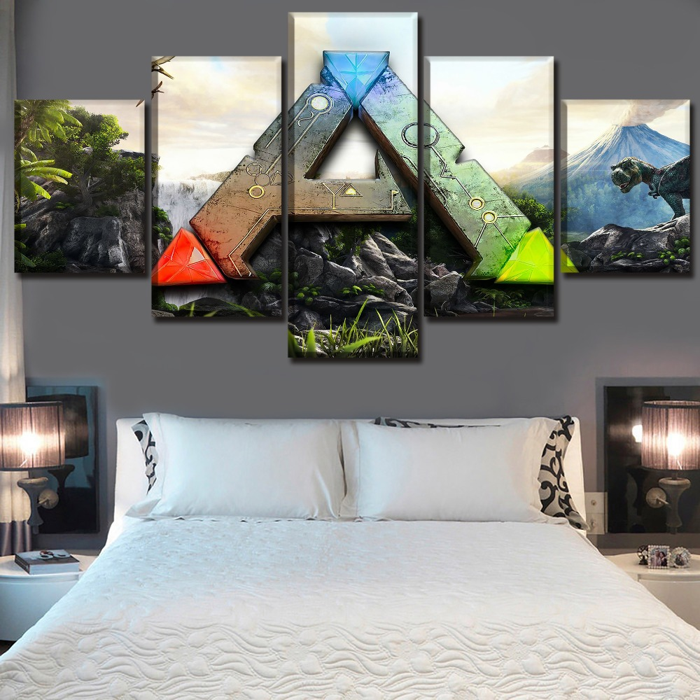 Canvas Posters Home Wall Art Framework 5 Pieces Game Ark