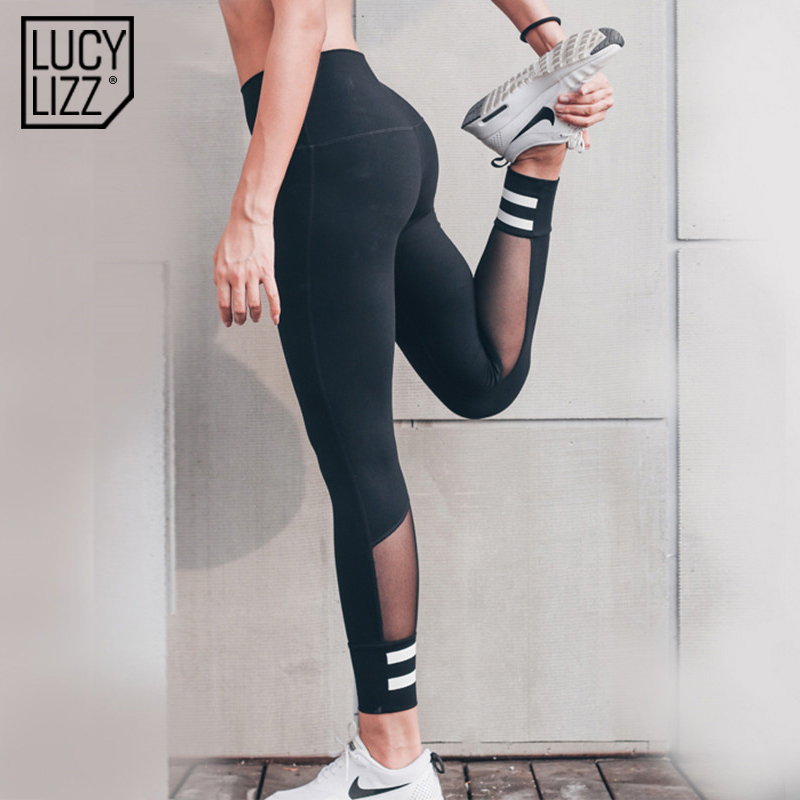 9798938409 2017 Mesh Sport Leggings Women Fitness Gym Yoga Pants Leggins Sportswear Strappy  Jogging Pants Running Tights Sports Clothing-in Yoga Pants from Sports ...