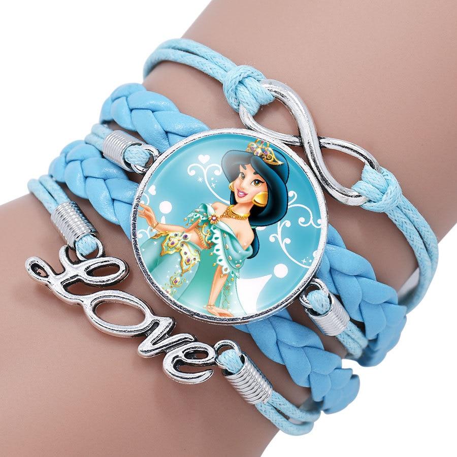 Детский Браслет Принцессы Диснея с героями мультфильма «Холодное сердце», Эльза, прекрасный подарок для девочек, аксессуары для одежды, детский браслет, украшения для макияжа - Цвет: 2